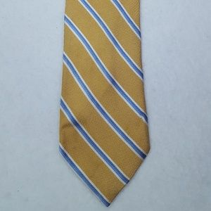 Jos A Bank Tie Striped Yellow Blue Necktie Made In